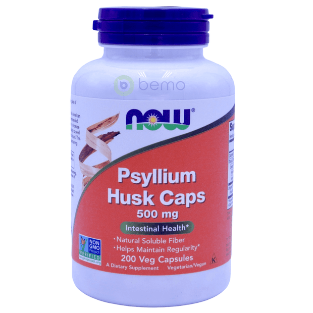 Now Foods, Psyllium Husk Caps, 500mg, 200 Capsules - bemo