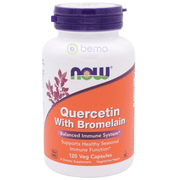 Now Foods, Quercetin with Bromelain, 120 Veggie Capsules (5378683633828)