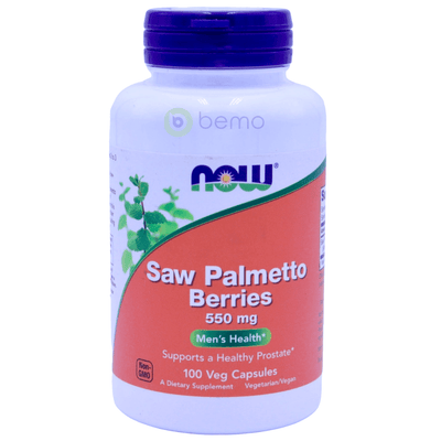 Now Foods, Saw Palmetto Berries, 550 mg, 100 Veg Capsules - bemo (4428602966156)