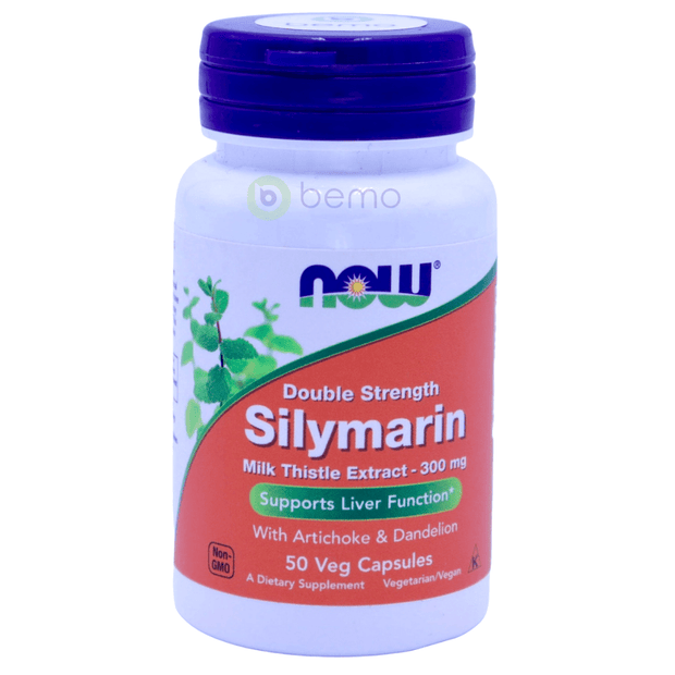 Now Foods, Silymarin, Milk Thistle Extract, Double Strength, 300mg, 50 Veg Capsules - bemo (4425899901068)