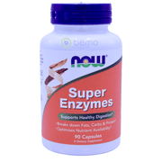 Now Foods, Super Enzymes, 90 Capsules - bemo (4419969581196)
