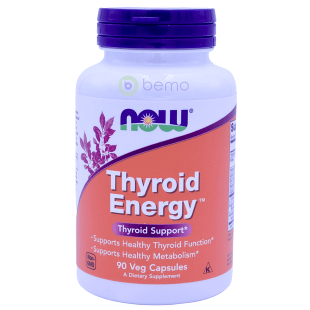 Now Foods, Thyroid Energy, 90 Veg Capsules - bemo (4428627574924)