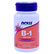 Now Foods, B-1, 100 mg, 100 Tablets - bemo (4428897353868)
