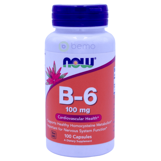 Now Foods, B-6, 50mg, 100 Tablets - bemo (4428717129868)
