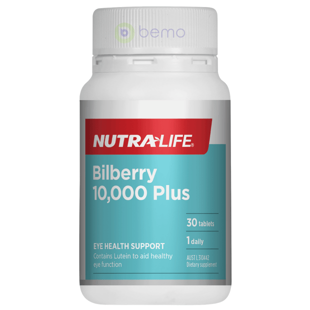 Nutra-Life, Bilberry 10000 Plus, 30 caps (5673217589412)