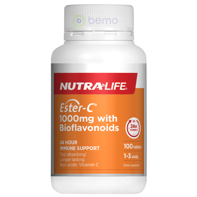 Nutra-Life, Ester C 1000mg + Bioflavonoids, 100 tabs (5673210740900)