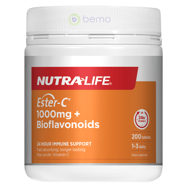 Nutra-Life, Ester C 1000mg + Bioflavonoids, 200 tabs (5673210970276)