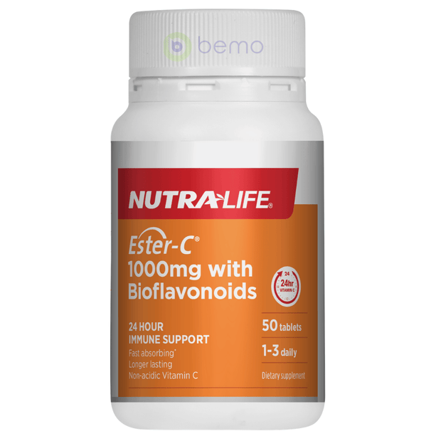 Nutra-Life, Ester C 1000mg + Bioflavonoids, 50 tabs (5673210511524)