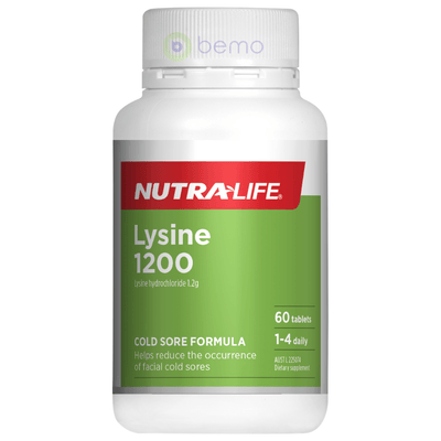 Nutra-Life, Lysine 1200mg, 60 tabs (5673216311460)