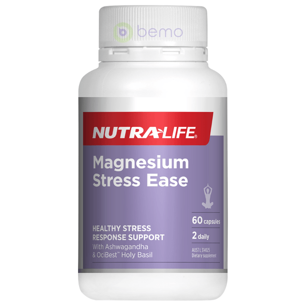 Nutra-Life, Magnesium Stress Ease, 60 caps (5673215623332)