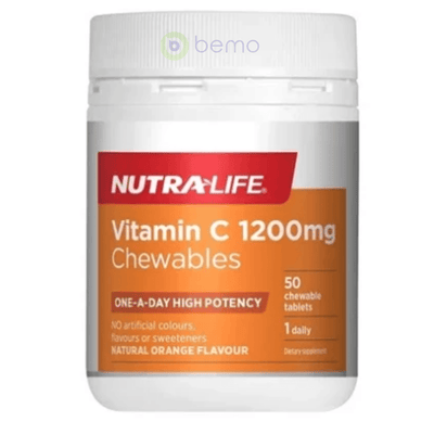 Nutra-Life, Vitamin C 1200mg Chewables, 50 tabs (5673214476452)