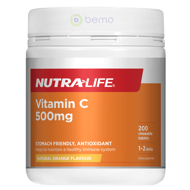 Nutra-Life, Vitamin C 500mg Chewables, 200 tabs (5673214116004)