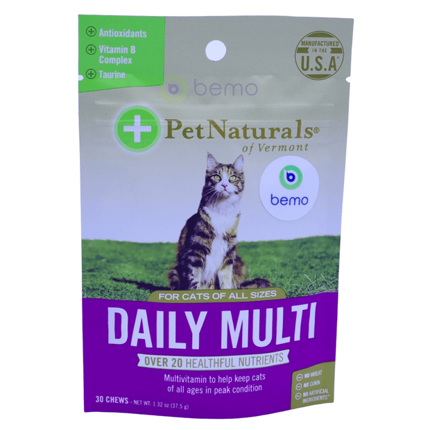 Pet Naturals of Vermont, Daily Multi, For Cats, 30 Chews, 37.5g - bemo (4428956696716)