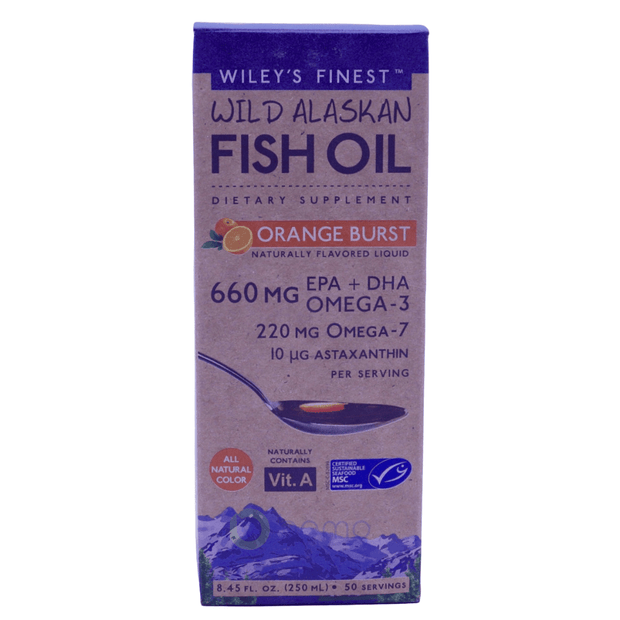 Wiley's Finest, Wild Alaskan Fish Oil, Orange Burst, 250 ml - bemo (4422344769676)