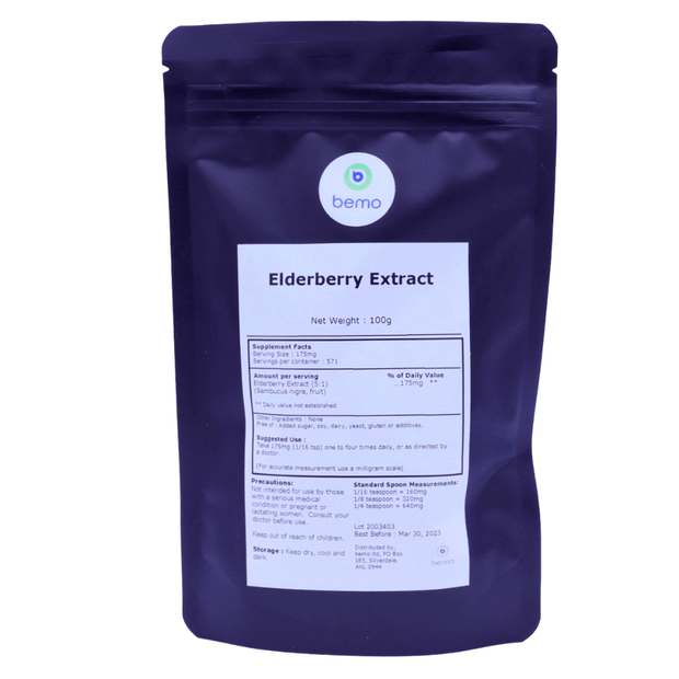 bemo, Elderberry Extract, 100g - bemo (4879215755404)