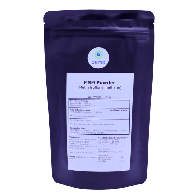 bemo, MSM Powder, 200g - bemo (4893032284300)