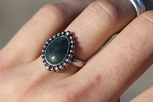 Load image into Gallery viewer, Size 6.5 Emerald Ring