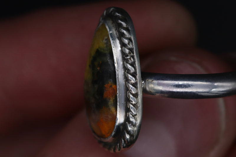 Size 8 Bumble Bee Jasper Ring