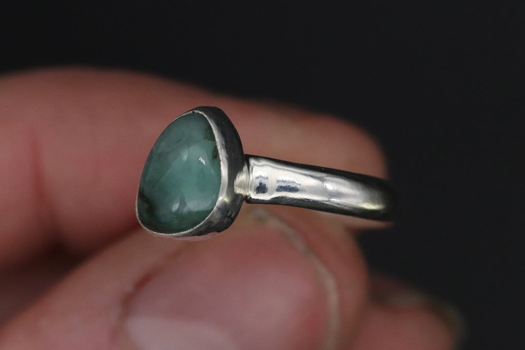 Size 7.5 Emerald Ring