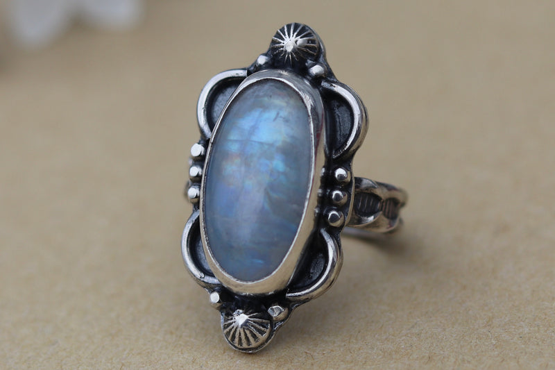 Size 7.5 Moonstone Ring