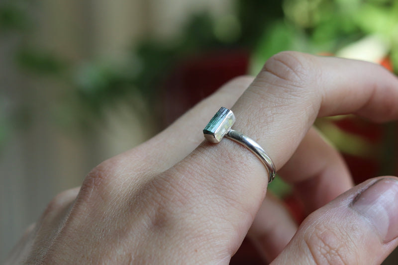 Size 7.5 Light Blue Tourmaline Ring