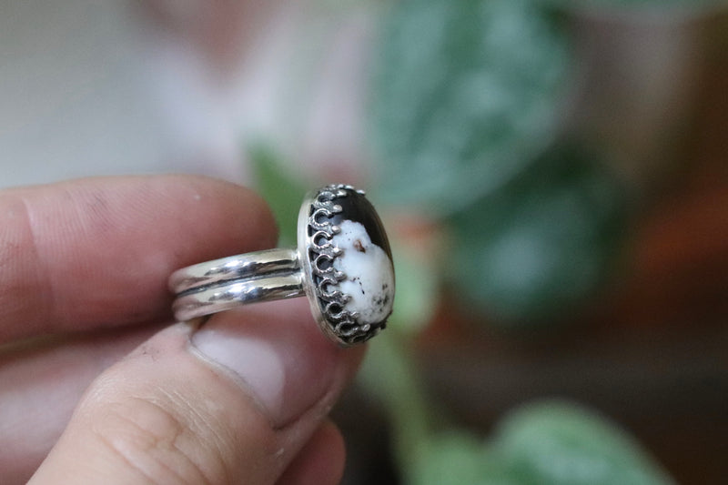 Size 6 White Buffalo Ring