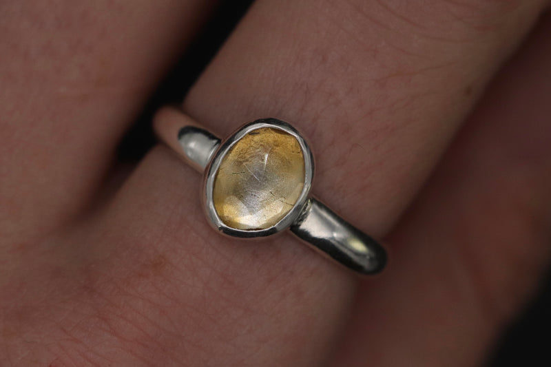 Size 8 Citrine Ring