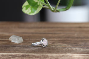 Size 6.5 Rose Quartz Ring