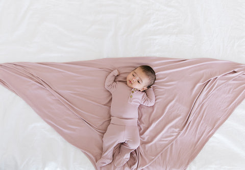 bamboo stretchy knit swaddle blanket