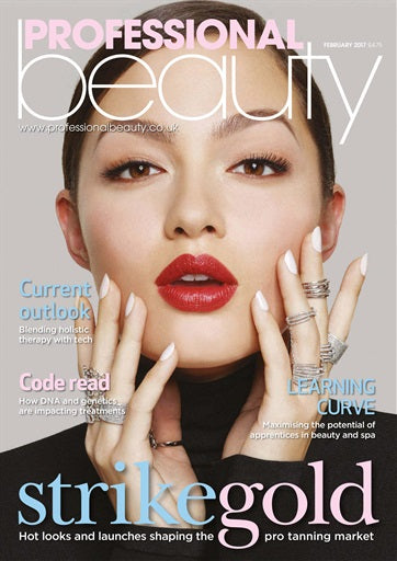 Liz Mckeon featured in Professional Beauty Magazine
