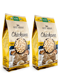 Organic Chickpea Flour (Pack of 2, 1 lb. each)