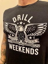 Load image into Gallery viewer, Black Drill Weekends Stencil Tee