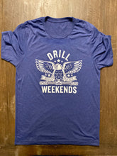 Load image into Gallery viewer, Blue Drill Weekends Stencil Tee