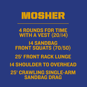 """Mosher"" Hero WOD T-Shirts"