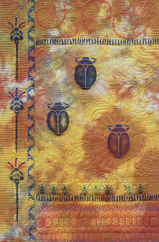 The Beetles Stencil from Sproule Studios is perfect for painting textile and mixed media projects.