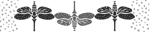The Moths Stencil from Sproule Studios has two different kinds of moths for painting.