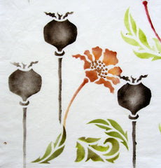 The Poppy Stencil has several different shapes to help you create unique hand painted projects.