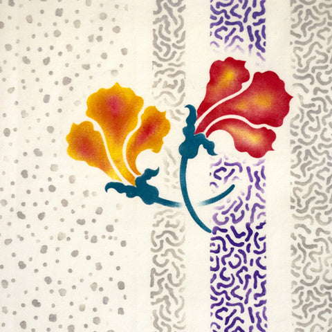 The ink Splotches Stencil from Sproule Studios creates great background interest.