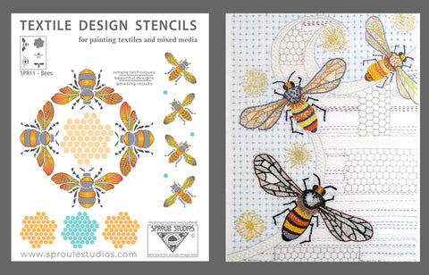 Bee Stencil and Bee Embroidery kit from Sproule Studios