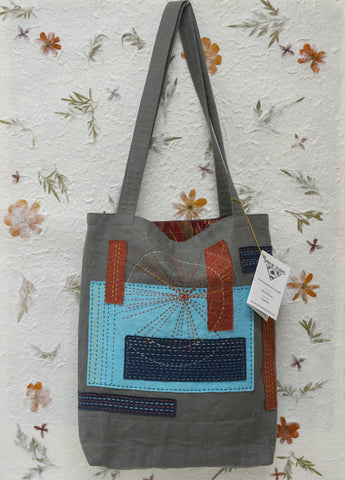 Handmade linen Market Tote by April Sproule