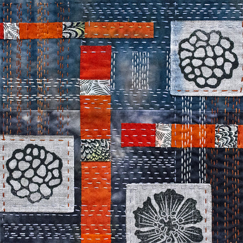Japanese Boro Style hand stitching by April Sproule, Boro Stitch Kits.