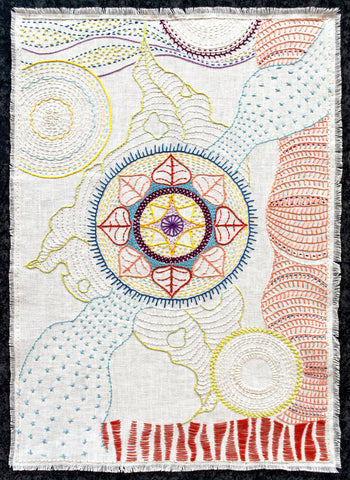 Hand embroidered mandala workshop with April Sproule.