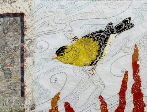 Goldfinch Bird Collage Workshop by April Sproule