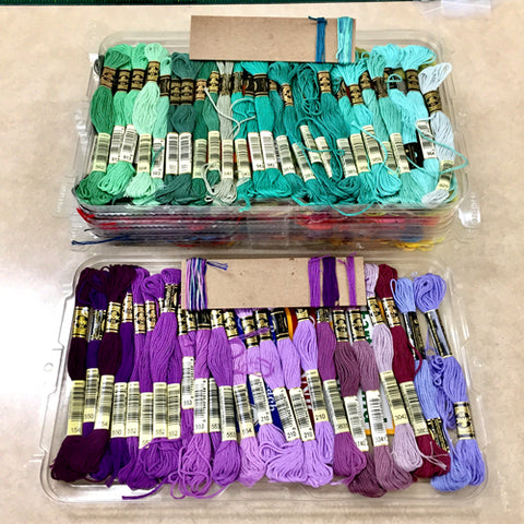 Embroidery floss organization by April Sproule