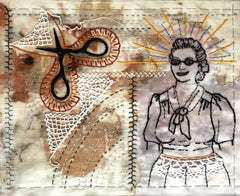 Hand or machine stitched fabric collage workshop with April Sproule.