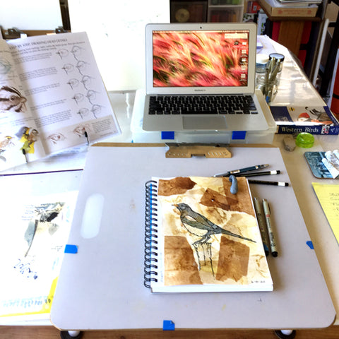 Slanted drawing board by April Sproule