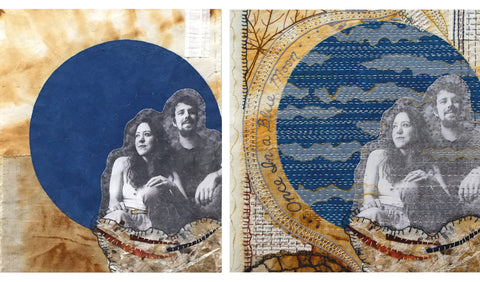 Hand Stitched scroll by April Sproule