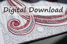 Load image into Gallery viewer, Curlicues embroidery pattern at Sproule Studios.