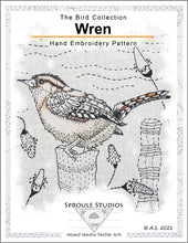 Load image into Gallery viewer, The Wren, Hand Embroidery Pattern