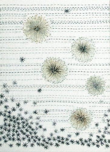 Dandelion Clocks hand embroidery pattern from Sproule Studios.